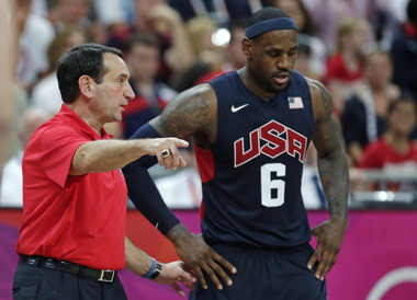 Coach K and LeBron