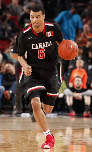 39f406e01 Canadian point guard Jamal Murray led the World Team to the Nike Hoop  Summit championship on Saturday in Portland