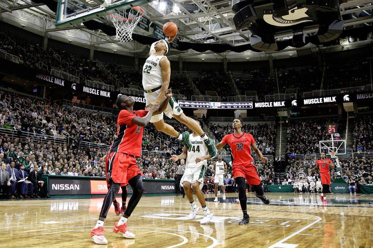 Miles Bridges Returns as Michigan State Routs Rutgers ...