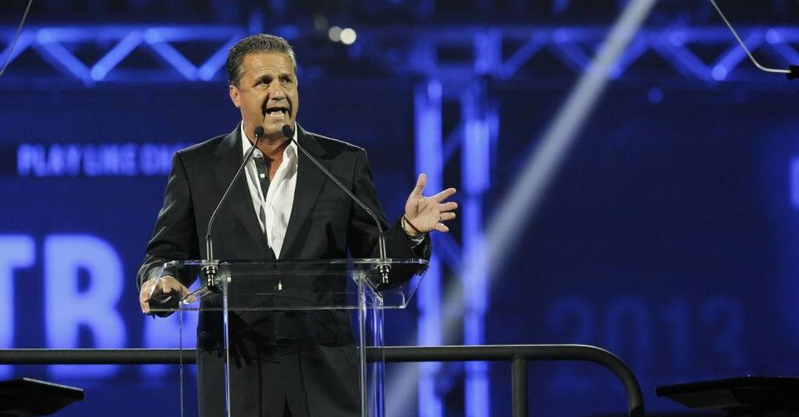 At Big Blue Madness, John Calipari pitches recruits, says he wants to 'keep going' at Kentucky