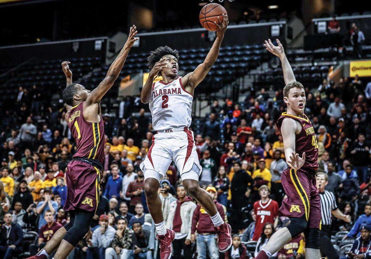 fc8835d1a1a NEW YORK — Perhaps lost in the wild 3-on-5 ending to the Alabama-Minnesota  game on Saturday was the play of Alabama freshman point guard Collin Sexton.