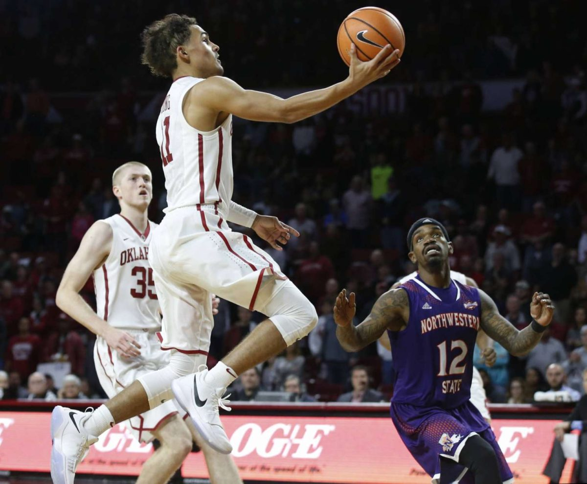 sports shoes 78050 de4da Trae Young ties Division I record with 22 assists in ...