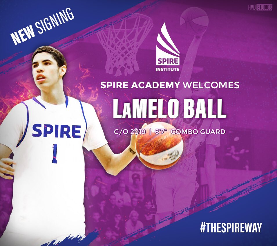 brand new f2f88 25e74 LaMelo Ball wants to play in college, new coach says he can ...