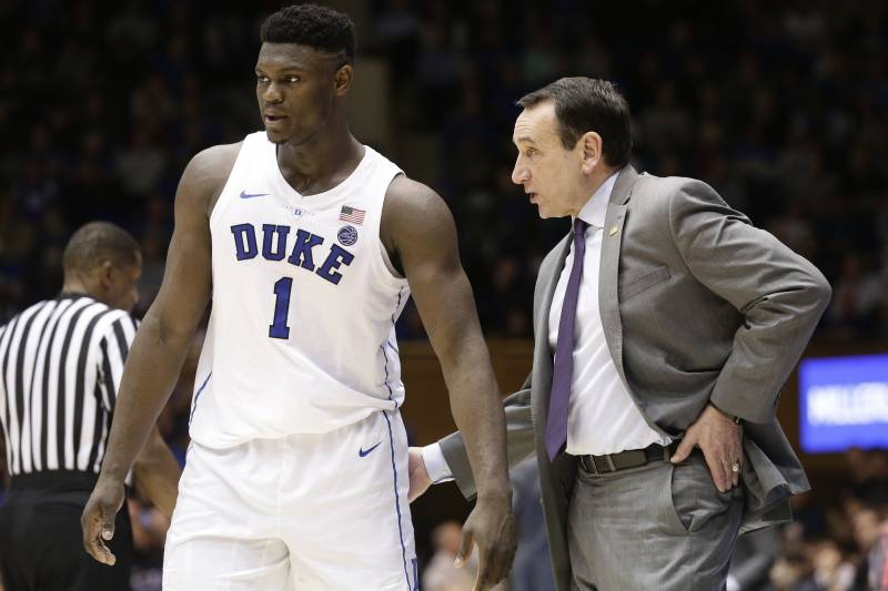 Coach K: 'No discussion' of shutting down Zion Williamson