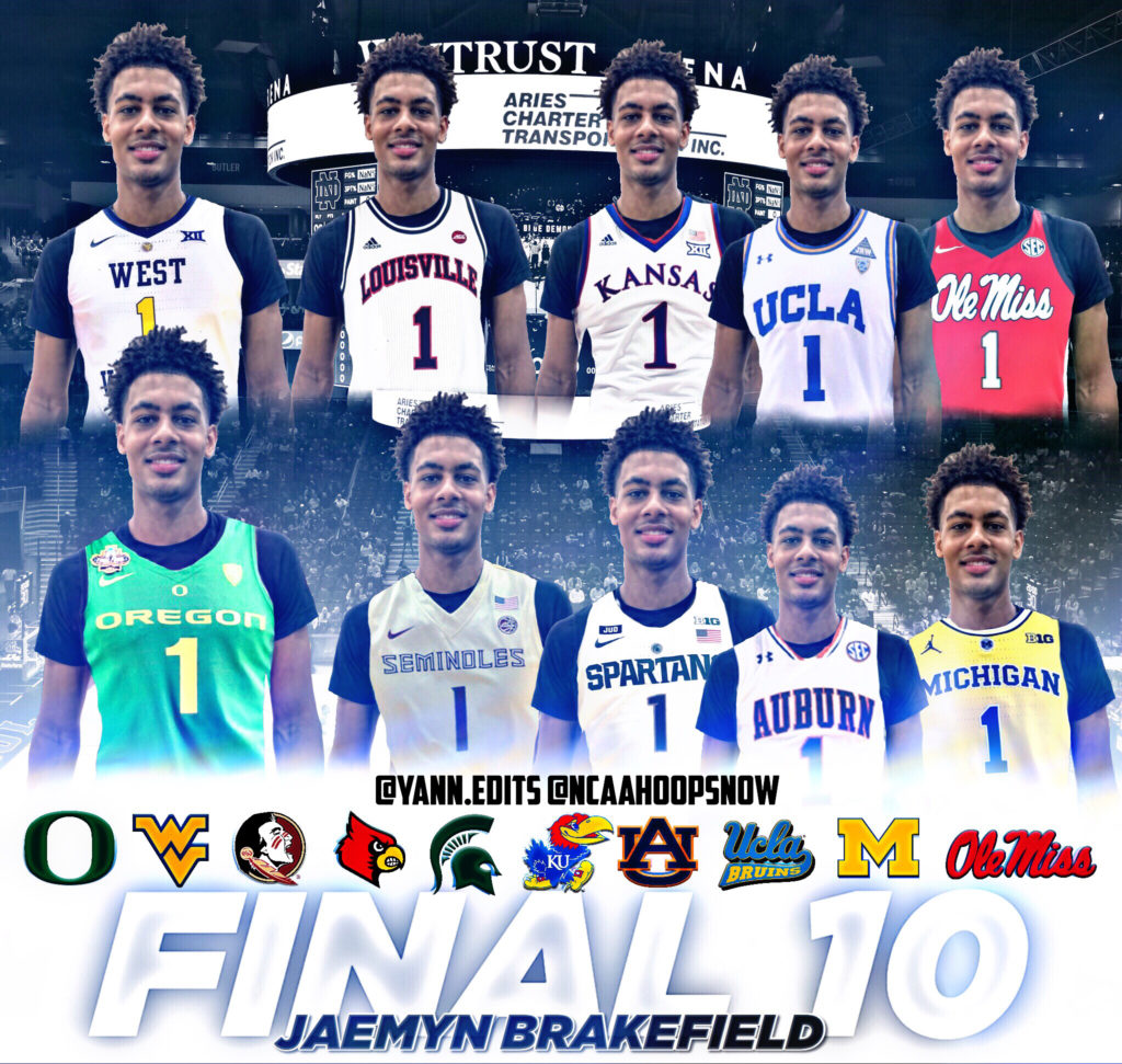 Jaemyn Brakefield Names Top Ten
